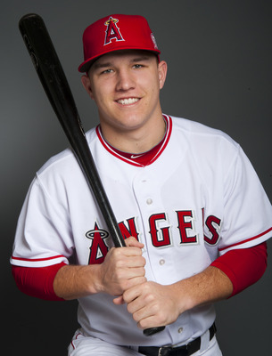 TEMPE, AZ - FEBRUARY 21: Mike Trout #90 of the Los Angeles Angels of Anaheim poses during their photo day at Tempe Diablo Stadium on February 21, 2011 in Tempe,Arizona. (Photo by Rob Tringali/Getty Images)