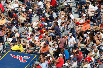 ATLANTA, GA - MAY 01:  Fans look on during the game between the St. Louis Cardinals and the Atlanta Braves at Turner Field on May 1, 2011 in Atlanta, Georgia.  (Photo by Kevin C. Cox/Getty Images)