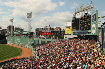 BOSTON - AUGUST 01:  Fans enjoy the game between the Detroit Tigers and the Boston Red Sox from the bleacher seats on August 1, 2010 at Fenway Park in Boston, Massachusetts.  (Photo by Elsa/Getty Images)