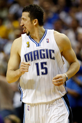 ORLANDO, FL - JUNE 11:  Hedo Turkoglu #15 of the Orlando Magic runs up court in the second half against  the Los Angeles Lakers in Game Four of the 2009 NBA Finals on June 11, 2009 at Amway Arena in Orlando, Florida.  NOTE TO USER:  User expressly acknowl