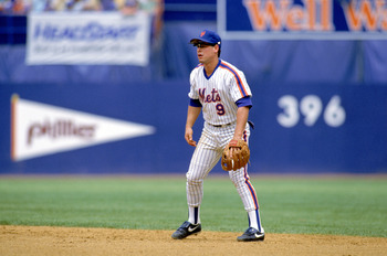 1989:  Gregg Jefferies of the New York Mets gets ready to field the ball during a game in the 1989 season. ( Photo by: Rick Stewart/Getty Images)