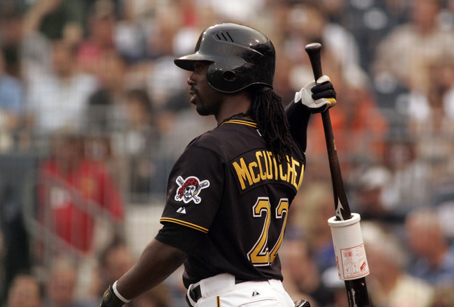 PITTSBURGH, PA - JUNE 10:  Andrew McCutchen #22 of the Pittsburgh Pirates looks on against the New York Mets during the game on June 10, 2011 at PNC Park in Pittsburgh, Pennsylvania.  The Mets defeated the Pirates 8-1.  (Photo by Justin K. Aller/Getty Ima