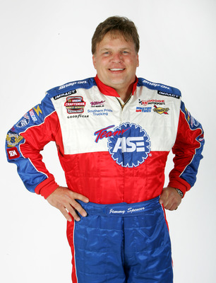 DAYTONA BEACH, FL - FEBRUARY 16: Portrait of Jimmy Spencer, driver of the NASCAR Craftsman Truck Series #2 Team ASE Dodge at the NASCAR Nextel Cup Daytona 500 on February 16, 2005  at the  Ocean Center in Daytona, Florida.  (Photo By Streeter Lecka/Getty