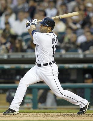 DETROIT - APRIL 26:  Alex Avila #13 of the Detroit Tigers bats during the seventh inning of the game against the Seattle Mariners at Comerica Park on April 26, 2011 in Detroit, Michigan. The Mariners defeated the Tigers 7-3.  (Photo by Leon Halip/Getty Im