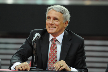COLLEGE PARK, MD - MAY 6:  University of Maryland basketball coach Gary WIlliams speaks while announcing his retirement on May 6, 2011 at the Comcast Center in College Park, Maryland.  (Photo by Mitchell Layton/Getty Images)