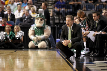 TAMPA, FL - MARCH 17:  Head coach Tom Izzo of the Michigan State Spartans looks on against the UCLA Bruins during the second round of the 2011 NCAA men's basketball tournament at St. Pete Times Forum on March 17, 2011 in Tampa, Florida. UCLA won 78-76.  (
