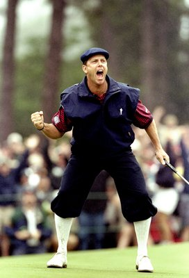 20 Jun 1999:  Payne Stewart of the United States celebrates victory during the last day of the 1999 US Open played on the number two course at Pinehurst in North Carolina, USA. \ Mandatory Credit: David Cannon /Allsport