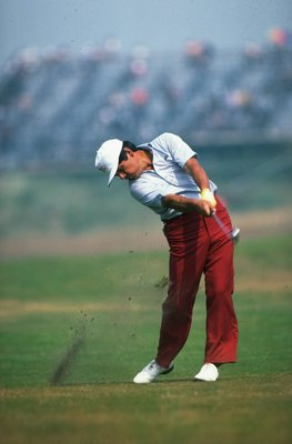 Jul 1983:  Lee Trevino of the USA in action during the British Open at Royal Birkdale Golf Club in Lancashire, England.  \ Mandatory Credit: David  Cannon/Allsport