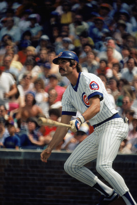 CHICAGO -1980:  Dave Kingman #10 of the Chicago Cubs swings at the pitch during a game in the 1980 season at Wrigley Field in Chicago, Illinois .  (Photo by: Jonathan Daniel/Getty Images)
