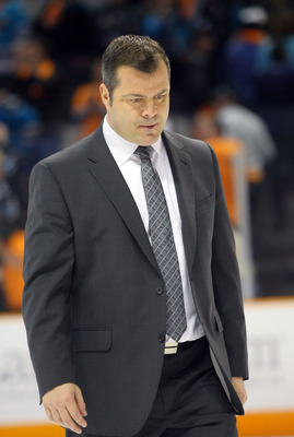 SAN JOSE, CA - MAY 20:  Head Coach Alain Vigneault of the Vancouver Canucks walks off the ice after Game Three of the Western Conference Finals against the San Jose Sharks during the 2011 Stanley Cup Playoffs at HP Pavilion on May 20, 2011 in San Jose, Ca