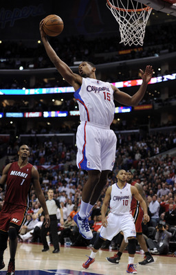 LOS ANGELES, CA - JANUARY 12:  Ryan Gomes #15 of the Los Angeles Clippers grabs a rebound against the Miami Heat at Staples Center on January 12, 2011 in Los Angeles, California.  NOTE TO USER: User expressly acknowledges and agrees that, by downloading a