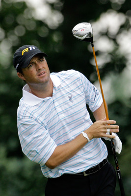 BETHESDA, MD - JUNE 16:  Ryan Palmer watches his tee shot on the fourth hole during the first round of the 111th U.S. Open at Congressional Country Club on June 16, 2011 in Bethesda, Maryland.  (Photo by Rob Carr/Getty Images)