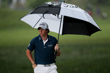 BETHESDA, MD - JUNE 16:  Rory McIlroy of Northern Ireland walks to the ninth green during the first round of the 111th U.S. Open at Congressional Country Club on June 16, 2011 in Bethesda, Maryland.  (Photo by Ross Kinnaird/Getty Images)