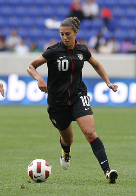 HARRISON, NJ - JUNE 05: Carli Lloyd #10 of the United States against Mexico during their International Friendly at Red Bull Arena on June 5, 2011 in Harrison, New Jersey.  (Photo by Nick Laham/Getty Images)