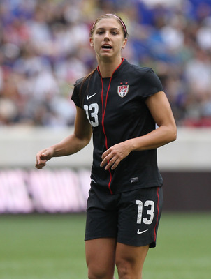 HARRISON, NJ - JUNE 05:  Alex Morgan #13 of the United States against Mexico during their International Friendly at Red Bull Arena on June 5, 2011 in Harrison, New Jersey.  (Photo by Nick Laham/Getty Images)