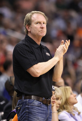 PHOENIX, AZ - MARCH 13:  Owner Robert Sarver of the Phoenix Suns reacts during the NBA game against the Orlando Magic at US Airways Center on March 13, 2011 in Phoenix, Arizona. The Magic defeated the Suns 111-88.  NOTE TO USER: User expressly acknowledge