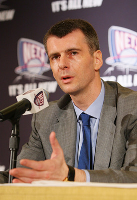 NEW YORK - MAY 19:  New Jersey Nets Owner Mikhail Prokhorov addresses the media during a press conference at the Four Seasons Hotel on May 19, 2010 in New York City.  (Photo by Mike Stobe/Getty Images)