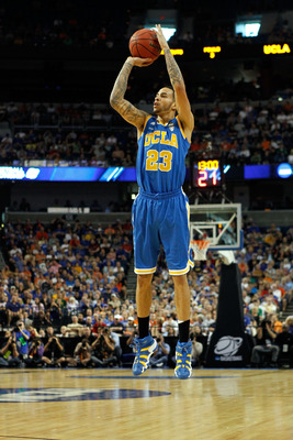 TAMPA, FL - MARCH 19:  Tyler Honeycutt #23 of the UCLA Bruins attempts a shot against the Florida Gators during the third round of the 2011 NCAA men's basketball tournament at St. Pete Times Forum on March 19, 2011 in Tampa, Florida.  (Photo by J. Meric/G