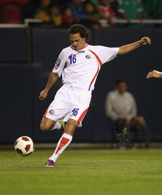 CHICAGO, IL - JUNE 12: Marco Urena #16 of Costa Rica fires a shot for a goal against Mexico during a CONCACAF Gold Cup 2011 match at Soldier Field on June 12, 2011 in Chicago, Illinois. Mexico defeated Costa Rica 4-1. (Photo by Jonathan Daniel/Getty Image