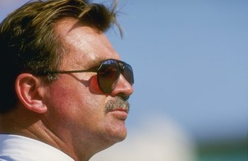 27 Dec 1987:  A portrait of head coach Mike Ditka of the Chicago Bears during the Bears 6-3 victory over the Los Angeles Raiders at the Los Angeles Memorial Coliseum in Los Angeles, California.  Mandatory Credit: Mike Powell  /Allsport
