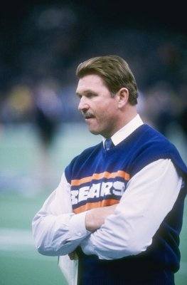 26 Jan 1986:  Head coach Mike Ditka of the Chicago Bears during the Bears 46-10 victory over the New England Patriots in Super Bowl XX at the Louisiana Superdome in New Orleans, Louisiana.  Mandatory Credit: Mike Powell  /Allsport