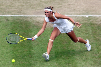 Victoria Azarenka at Wimbledon in 2010.