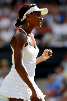 Venus Williams at Wimbledon in 2010.