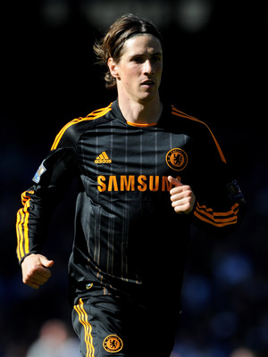 LIVERPOOL, ENGLAND - MAY 22:  Fernando Torres of Chelsea in action during the Barclays Premier League match between Everton and Chelsea at Goodison Park on May 22, 2011 in Liverpool, England.  (Photo by Chris Brunskill/Getty Images)