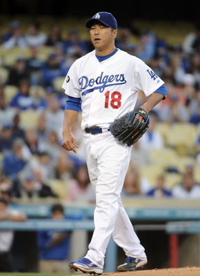 LOS ANGELES, CA - APRIL 30:  Hiroki Kuroda #18 of the Los Angeles Dodgers pitches during the first inning at Dodger Stadium on April 30, 2011 in Los Angeles, California.  (Photo by Harry How/Getty Images)