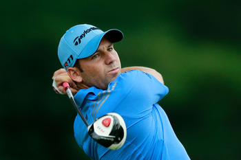 BETHESDA, MD - JUNE 17:  Sergio Garcia of Spain hits a shot on the 15th tee during the second round of the 111th U.S. Open at Congressional Country Club on June 17, 2011 in Bethesda, Maryland.  (Photo by Chris Trotman/Getty Images)