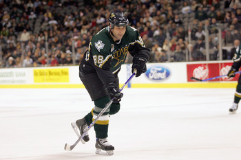 DALLAS - JANUARY 15:  Eric Lindros #88 of the Dallas Stars skates against the Los Angeles Kings at American Airlines Center on January 15, 2007 in Dallas, Texas. The Stars won 3-1. (Photo by Ronald Martinez/Getty Images)