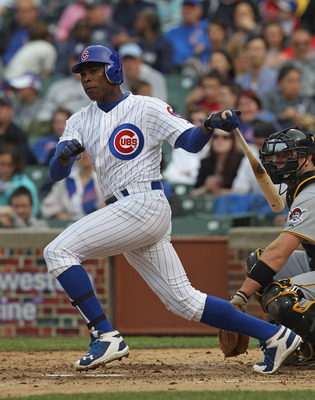CHICAGO, IL - MAY 29:  Alfonso Soriano #12 of the Chicago Cubs hits the ball against the Pittsburgh Pirates at Wrigley Field on May 29, 2011 in Chicago, Illinois. The Cubs defeated the Pirates 3-2.  (Photo by Jonathan Daniel/Getty Images)