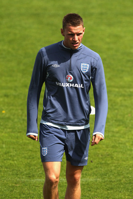 FREDERICIA, DENMARK - JUNE 09: Connor Wickham walks back to the dressing room after picking up an injury during the England under 21's training session at Monjasa Park stadium on June 9, 2011 in Fredericia, Denmark.  (Photo by Ian Walton/Getty Images)
