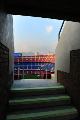 BARCELONA, SPAIN - OCTOBER 16:  One of the public entrances to the stands of the Camp Nou stadium on October 16, 2010 in Barcelona, Spain.  (Photo by Jasper Juinen/Getty Images)