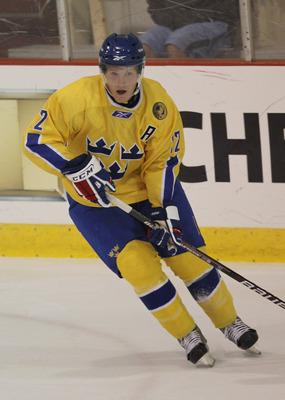 Gabriel Landeskog playing for Sweden