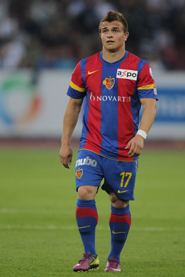 ZURICH, SWITZERLAND - MAY 11:  Xherdan Shaqiri of FC Basel 1893 in looks on during the Swiss Super League match between FC Zurich and FC Basel 1893 at Letzigrund Stadium on May 11, 2011 in Zurich, Switzerland. (Photo by Sebastian Derungs/EuroFootball/Gett