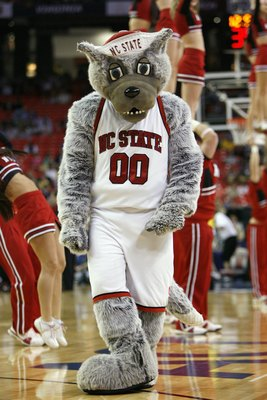 ATLANTA - MARCH 12:  Mascot of the North Carolina State Wolfpack walks on the court against the Maryland Terrapins during day one of the 2009 ACC Men's Basketball Tournament on March 12, 2009 at the Georgia Dome in Atlanta, Georgia.  (Photo by Kevin C. Co