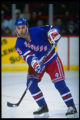 1993-1994:  Sergei Zubov of the New York Rangers. Mandatory Credit: Robert Laberge  /Allsport