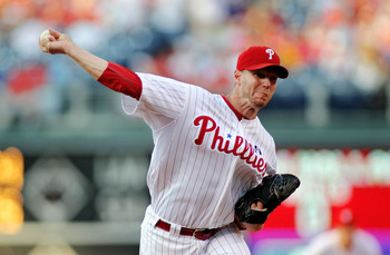 PHILADELPHIA - JUNE 15:  Roy Halladay #34 of the Philadelphia Phillies pitches against the Florida Marlins the Phillies would win in the bottom of the 10th during game two of a day night double header at Citizens Bank Park on June 15, 2011 in Philadelphia