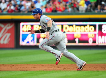 ATLANTA - JUNE 17: Josh Hamilton #32 of the Texas Rangers runs the bases against the Atlanta Braves at Turner Field on June 17, 2011 in Atlanta, Georgia. (Photo by Scott Cunningham/Getty Images)