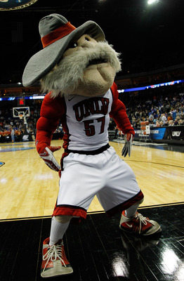 TULSA, OK - MARCH 18:  The UNLV Rebels mascot performs during the second round game against the Illinois Fighting Illini in the 2011 NCAA men's basketball tournament at BOK Center on March 18, 2011 in Tulsa, Oklahoma.  (Photo by Tom Pennington/Getty Image
