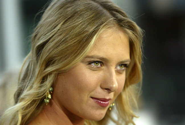 BEVERLY HILLS, CA - SEPTEMBER 13:  Wimbledon champion Maria Sharapova attends the world premiere of the Universal Feature 'Wimbledon' at the Academy of Motion Pictures Arts and Sciences on September 13, 2004 in Los Angeles, California. (Photo by Kevin Win