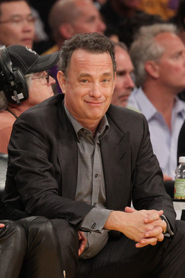 LOS ANGELES, CA - APRIL 20:  Tom Hanks attends the game between the New Orleans Hornets and the Los Angeles Lakers at Staples Center on April 20, 2011 in Los Angeles, California.  (Photo by Noel Vasquez/Getty Images)