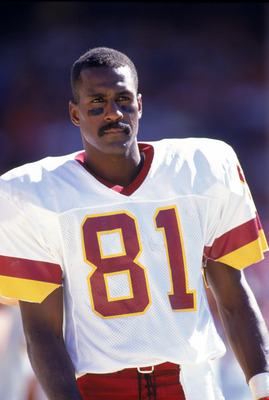 SAN FRANCISCO - SEPTEMBER 16:  Wide receiver Art Monk #81 of the Washington Redskins looks on during a NFL game against the San Francisco 49ers at Candlestick Park on September 16, 1990 in San Francisco, California.  The 49ers won 26-13.  (Photo by Otto G