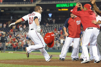 Danny Espinosa after game winning 3 run blast to successfully sweep the Cardinals on Thursday, June 16