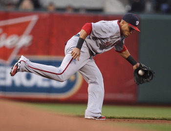 Ian Desmond ranges to make a play to his left Saturday June 6 vs the Mets