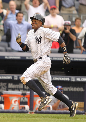 NEW YORK, NY - JUNE 16:  Curtis Granderson #14 of the New York Yankees in action against the Texas Rangers during their game on June 16, 2011 at Yankee Stadium in the Bronx borough of New York City.  (Photo by Al Bello/Getty Images)