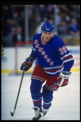 31 Dec 1992:  Forward Doug Weight of the New York Rangers looks on during a game against the Buffalo Sabres at Memorial Auditorium in Buffalo, New York. Mandatory Credit: Rick Stewart  /Allsport
