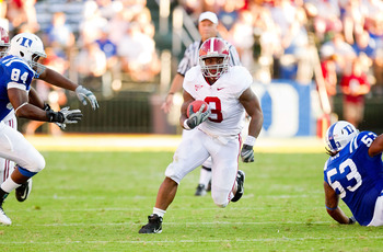 Trent Richardson will need to take some pressure off of Alabama's new quarterback on the road in a hostile environment.