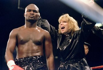 18 Nov 1994:  James Toney stands in the ring before a fight against Roy Jones Jr. in Las Vegas, Nevada.  Toney won the fight. Mandatory Credit: Holly Stein  /Allsport